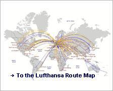Lufthansa flying map